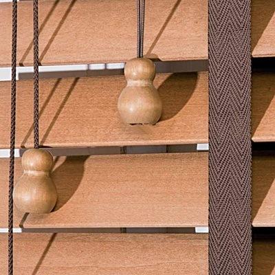 żaluzje drewniane w wersji 50mm na miarę