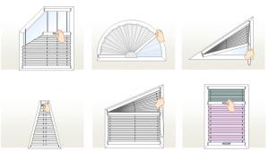 roelty plisowane na nietypowe okna